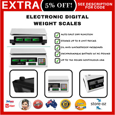 Commercial Kitchen Scale Digital Shop Electronic Weighing Food Post 40KG White