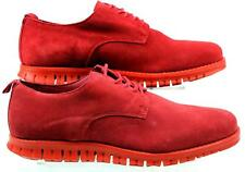 MENS ASK THE MISSUS DATA RED SUEDE LACE UP FLAT CASUAL SMART SHOES SIZE 9 FADED