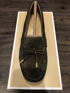 NIB $99 Michael Kors Sutton Moccasin Suede Bow Detail Loafers Sz 8M