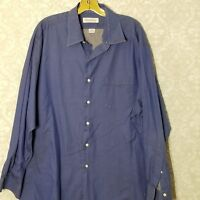 Brooks Brothers Blue Button Down Long Sleeve Shirt Men's Size 18 34/35