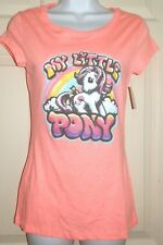 New Juniors 3XL (23) My Little Pony T-Shirt Bright Coral XXXL