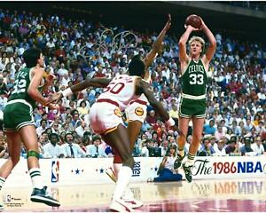 Larry Bird Celtics Signed 16x20 1986 NBA Finals Photo - Fanatics