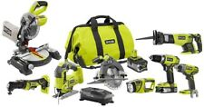Ryobi 8 Tool Combo Kit 18-Volt One+ Lithium-Ion 4.0 Ah Charger Batteries Bag