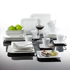 30PCS Porcelain Crockery Ceramic China White Dinner Service Set Cups Plates 025