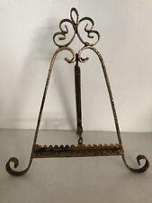 """Vintage Gold Gilt Metal Table Top PICTURE FRAME HOLDER7 9"""""""