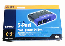 Linksys EtherFast Ezxs55W 5-Port Workgroup Switch Router New