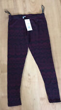 BNWT NEW LOOK PETITES RED AZTEC LEGGINGS SIZE 14