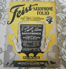 Feist Saxophone Folio No 4 15 tunes for saxophones with piano accompaniment