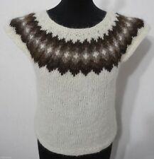 Markenlose Damen-Pullover & Mittel mit Rundhals und Norweger