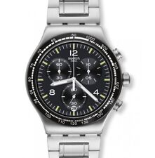 "SWATCH IRONY NEW CHRONO ""NIGHT FLIGHT"" (YVS444G) NEUWARE, OVP"