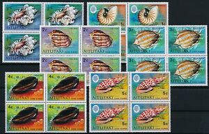 [P15609] Aitutaki 1974 : Shells - 4x Good Set Very Fine MNH Stamps - $120