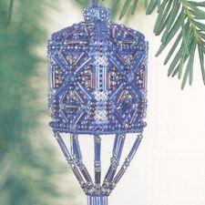 Sapphire Tassel Beaded Cross Stitched Ornament Kit Mill Hill 2001