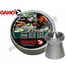 PIOMBINI GAMO EXPANDER DIABOLO CAL 4.5 mm TESTA a PUNTA 250 Pz PALLINI DA CACCIA