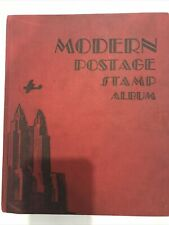 The Modern Postage Stamp Album, copyright 1930 with over 500 stamps