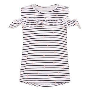 Mädchen Shirt NAME IT Klein Kinder Top Carmen Ausschnitt Cold Shoulder Oberteil