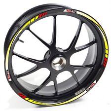 UKEN Sticker wheel Rim Aprilia RS 125 RS125 yellow red strip tape vinyl adhesive