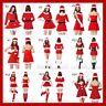 2017 Christmas Sexy Miss Santa Claus Fancy Dress party Women Lady Girls Costume