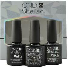 CND Shellac Top Coat Collection - ALLURING TRILOGY Matte/Pearl/Glitter 3 x 7,3ml