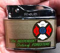 IOF Independent Order Of Foresters Flat Advertising Lighter Near Mint