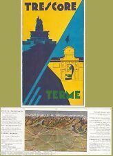 55486 -- DEPLIANT PUBBLICITARIO d'Epoca - BERGANO:  Trescore Balneario anni '30