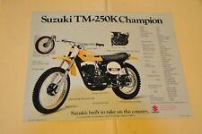 ORIGINAL 1973 TS & TM 250 Suzuki Motorcycle Brochure
