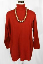 4bc85b91cc0 NWT Benetton Maroon Red Long Sleeve Turtle Neck Wool Blend Tunic Sweater -  L XL