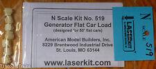 American Model Builders #519 Generator Flatcar Load - Kit  (N Scale)