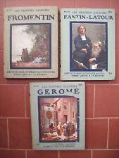 1920 MONOGRAFIE IN FRANCESE PITTORI FRANCESI GEROME, FROMENTIN e FANTIN LATOUR