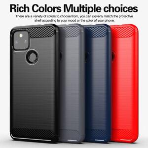 For Google Pixel 5 XL 4A 4XL 3A XL Shockproof Fiber Carbon Soft TPU Case Cover