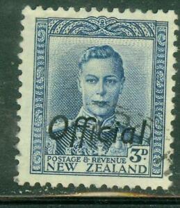 New Zealand. 1941. GVI. 3d. Blue. Official.  BOB. U.