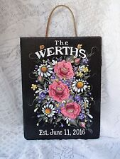HAND PAINTED SLATE/ROSES/DAISIES/WILD FLOWERS SLATE/PERSONALIZED