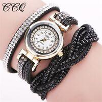 Elegante Damenuhr Quartzlong Armband Strass Neu Angebot