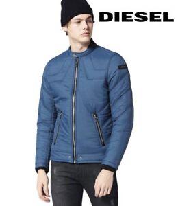 Diesel Men's Bomber Jacket W-Deacon Blue Light Puffer Coat Winter RRP £199.99
