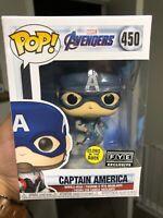 Funko Pop! #450 Marvel Avengers End Game - Captain America (GITD) FYE Exclusive
