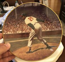 """SATCHEL PAGE: HIS GREATEST GAMES"" Bradford Exchange Collectors Plate w/ COA"