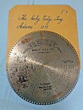 "Vtg . Regina Music Disc . 15 1/2"" . # 1575 - ""The Holy City"", Song"
