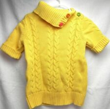 GYMBOREE Girls Yellow Sweater w/Flower Buttons S (5-6)