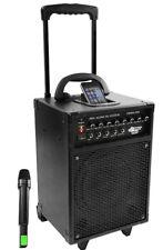 PylePro Pyle-Pro PWMA930I 600 Watt VHF Wireless Portable PA System/Echo with iPod Dock