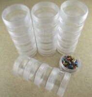 12-IN-1 Round Storage Containers,Crafts, Beads, 12 w/ Lids