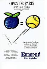 Publicité Advertising  068  1990    Radio Europe 1 Open de Paris  tennis Bercy