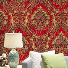 1M Geprägt Texturiert 3D Wallpaper Klassisch Europäisch Damast Roll Home Dekor