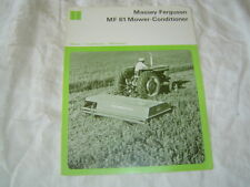Massey Ferguson MF61 mower conditioner brochure