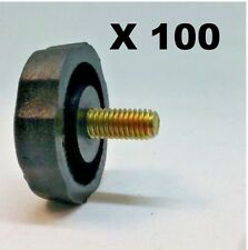 LOT OF 100 CRS KN5P BLACK PLASTIC 5mm CB, HAM.SCANNER RADIO BRACKET KNOBS
