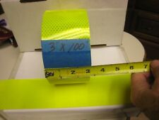 "NEON YELLOW  Reflective   Conspicuity  Tape 3"" x 100 feet"