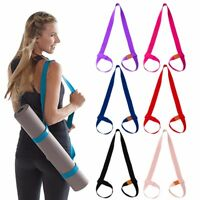 Adjustable Exercise Sport Yoga Mat Tie up Sling Carry Shoulder Strap Belt Cotton