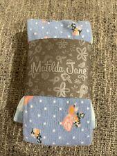 NWT Matilda Jane Brilliant Daydream Beating Heart Tights 4-6 Blue Floral NEW