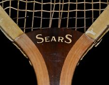 Antique Vintage Wood 1910 Wright & Ditson SEARS Tennis Racket