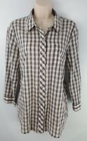 LUCKY BRAND Womens Button Front Long Sleeve Shirt Sz Medium 100% Cotton EUC