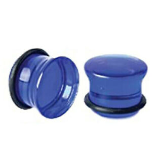 Pair of Single Flare Acrylic Ear Gauges Plugs Stretching O-Ring Piercing E559