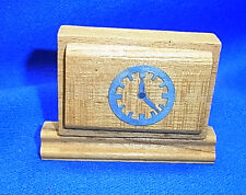Vintage German Dollhouse Miniature Wood Clock #BN2